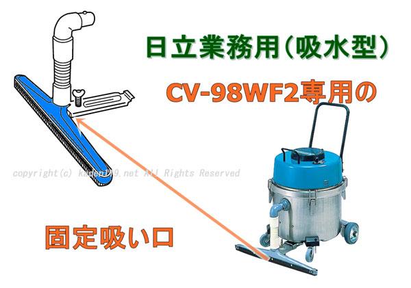 日立掃除機CV-98WF2の固定スイクチ(吸い口)・ヘッドの説明