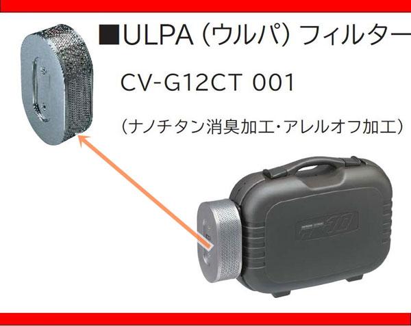 日立掃除機CV-G12ctC-001のウルパ(ULPA)フィルター説明